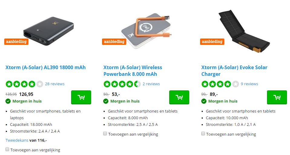 Ontvang deze week tot 20% korting op Xtorm powerbanks die in je tas passen bij CoolBlue