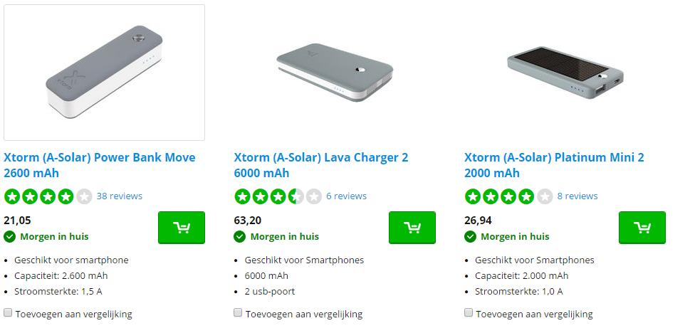 Ontvang deze week tot 20% korting op Xtorm powerbanks die in je zak passen bij CoolBlue