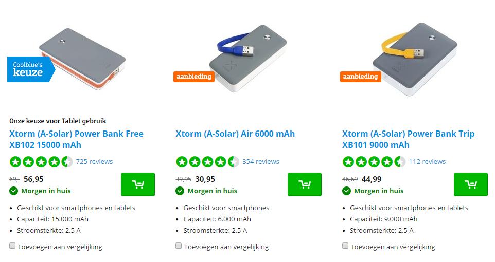 Ontvang deze week tot 20% korting op Xtorm powerbanks die in je jas passen bij CoolBlue