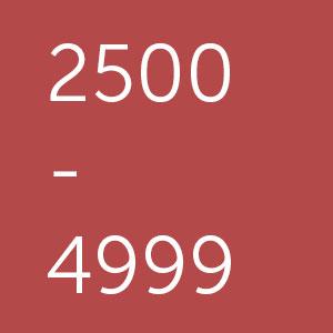 Powerbanks met een capaciteit van 2500 tot 4999 mAh