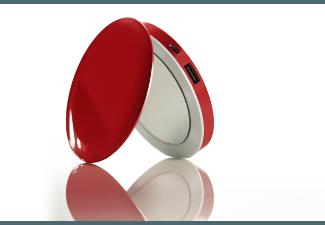 Nooit meer een lege accu met de volgende voordelige powerbank: HYPER Pearl Red