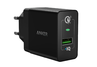 Nooit meer een lege accu met de volgende voordelige powerbank: ANKER PowerPort+ 1 met Quick Charge 3.0 Zwart