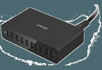 Nooit meer een lege accu met de volgende voordelige powerbank: ANKER PowerPort 10 12000 mAh met PowerIQ Zwart