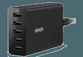Nooit meer een lege accu met de volgende voordelige powerbank: ANKER PowerPort 5 8000 mAh met PowerIQ Zwart