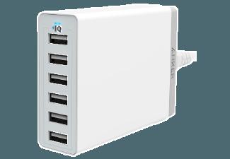 Nooit meer een lege accu met de volgende voordelige powerbank: ANKER PowerPort 6 12000 mAh met PowerIQ Wit