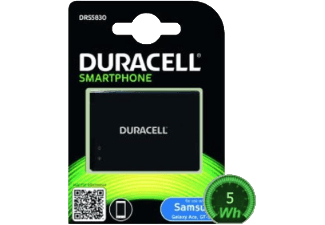 Nooit meer een lege accu met de volgende voordelige powerbank: DURACELL Verwisselbare Accu voor Samsung Galaxy Ace (GT-S5830)