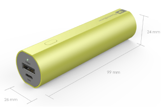 Nooit meer een lege accu met de volgende voordelige powerbank: GP FN02M powerbank 2600 mAh groen