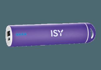 Nooit meer een lege accu met de volgende voordelige powerbank: ISY IAP 1203 powerbank 2200 mAh paars
