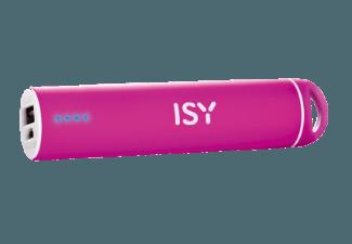 Nooit meer een lege accu met de volgende voordelige powerbank: ISY IAP 1603 powerbank 2200 mAh roze