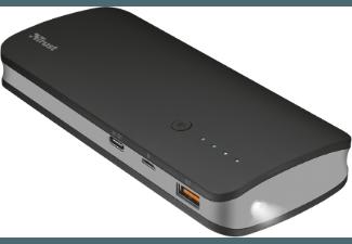 Nooit meer een lege accu met de volgende voordelige powerbank: TRUST OMNI 10000 mAh Powerbank met USB-C Zwart/Grijs