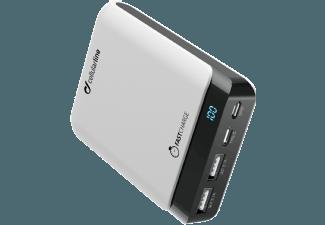 Nooit meer een lege accu met de volgende voordelige powerbank: CELLULAR-LINE Charger Powerup 10000 mAh USB-C/USB Wit