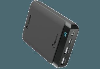 Nooit meer een lege accu met de volgende voordelige powerbank: CELLULAR-LINE Charger Powerup 10000 mAh USB-C/USB Zwart