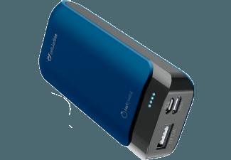 Nooit meer een lege accu met de volgende voordelige powerbank: CELLULAR-LINE Charger Powerup 5200 mAh USB-C/USB Blauw