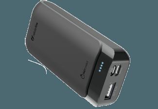Nooit meer een lege accu met de volgende voordelige powerbank: CELLULAR-LINE Charger Powerup 5200 mAh USB-C/USB Zwart