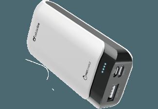 Nooit meer een lege accu met de volgende voordelige powerbank: CELLULAR-LINE Charger Powerup 5200 mAhUSB-C/USB Wit