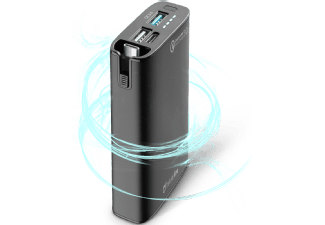 Nooit meer een lege accu met de volgende voordelige powerbank: CELLULAR-LINE Portable Charger Com 6700 mAh Qualc. 3.0 Zwart