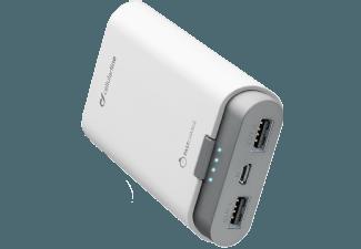 Nooit meer een lege accu met de volgende voordelige powerbank: CELLULAR-LINE Portable Charger Dual 7800 mAh Wit
