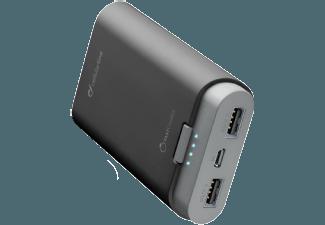Nooit meer een lege accu met de volgende voordelige powerbank: CELLULAR-LINE Portable Charger Dual 7800 mAh Zwart