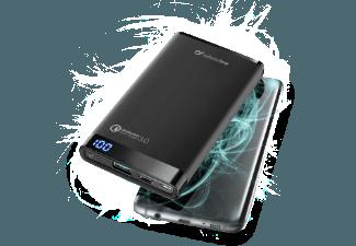 Nooit meer een lege accu met de volgende voordelige powerbank: CELLULAR-LINE Portable Charger Dual UBS/USB-C Qualcomm 3.0 8.000mAh Zwart