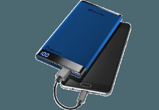 Nooit meer een lege accu met de volgende voordelige powerbank: CELLULAR-LINE Portable Charger Dual USB Free Power Manta 6000mAh Slim Blauw