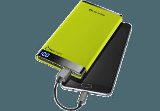 Nooit meer een lege accu met de volgende voordelige powerbank: CELLULAR-LINE Portable Charger Dual USB Free Power Manta 6000mAh Slim Groen
