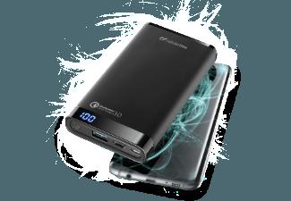 Nooit meer een lege accu met de volgende voordelige powerbank: CELLULAR-LINE Portable Charger Dual USB/USB-C Qualcomm 3.0 12.000mAh Zwart