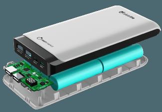 Nooit meer een lege accu met de volgende voordelige powerbank: CELLULAR-LINE Portable Charger Powerup 20000mAh  USB-C/micro-USB Wit
