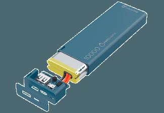Nooit meer een lege accu met de volgende voordelige powerbank: CELLULAR-LINE Portable Charger USB Free Power Slim 10000mAh Blauw