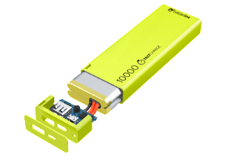 Nooit meer een lege accu met de volgende voordelige powerbank: CELLULAR-LINE Portable Charger USB Free Power Slim 10000mAh Groen