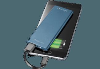 Nooit meer een lege accu met de volgende voordelige powerbank: CELLULAR-LINE Portable Charger USB Free Power Slim 3000mAh Blauw