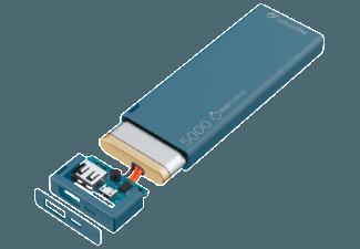 Nooit meer een lege accu met de volgende voordelige powerbank: CELLULAR-LINE Portable Charger USB Free Power Slim 5000mAh Blauw