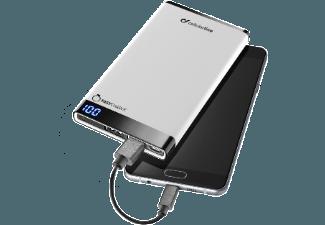 Nooit meer een lege accu met de volgende voordelige powerbank: CELLULAR-LINE Portable charger Dual USB Free Power Manta 6000mAh Slim Wit