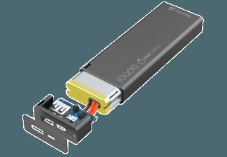 Nooit meer een lege accu met de volgende voordelige powerbank: CELLULAR-LINE Portable charger USB Free Power Slim 10000mAh Zwart