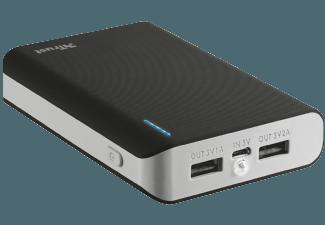 Nooit meer een lege accu met de volgende voordelige powerbank: TRUST Primo Powerbank 8800 - Zwart