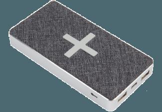 Nooit meer een lege accu met de volgende voordelige powerbank: XTORM XW300 QI Powerbank 8.000 mAh Wave Grijs/Wit